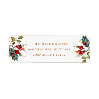 Hawthorn Berries Return Address Labels