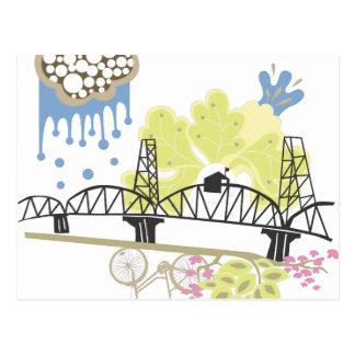 Hawthorne Bridge Portland Postcard