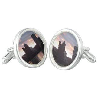 Hawthorne Bridge Portland Skyline Cufflinks