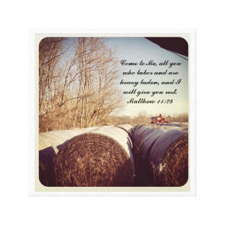 Hay Bales in the Country Canvas Print