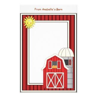 Hay Barn Agriculture Theme Kids Writing Paper Stationery Paper