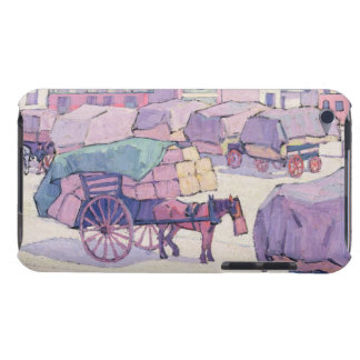 Hay Carts Cumberland Market oil on canvas iPod Touch Case-Mate Case