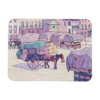 Hay Carts, Cumberland Market (oil on canvas) Vinyl Magnets