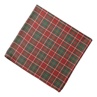 Hay Clan Tartan Red, Green, and Yellow Plaid Bandana