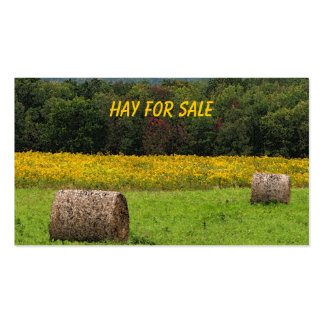 Hay for Sale Business Card Templates
