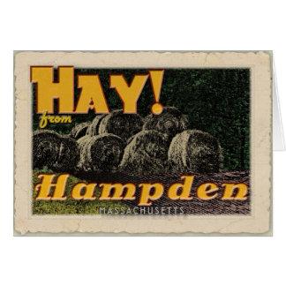 Hay! Hampden, MA card