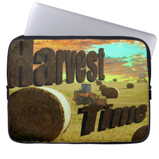 Hay Harvesting Time Logo And Theme, Laptop Sleeve