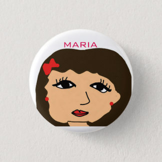 HAY MARIA CARTOON 3 CM ROUND BADGE