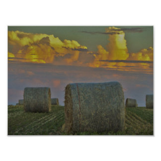 Hay on a Farm Poster