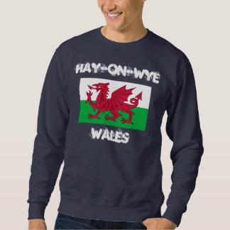 Hay-on-Wye, Wales with Welsh flag Sweatshirt