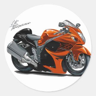 Hayabusa Orange Bike Classic Round Sticker