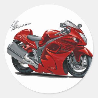 Hayabusa Red Bike Classic Round Sticker