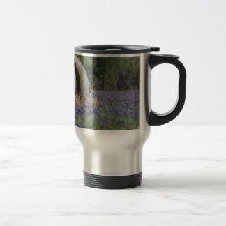 Haybales bluebonnets coffee mug