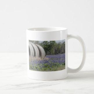Haybales bluebonnets mug