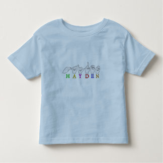 HAYDEN  FINGERSPELLED ASL AMERICAN SIGN TODDLER T-Shirt