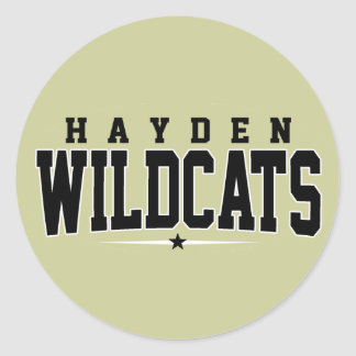 Hayden High School; Wildcats Classic Round Sticker