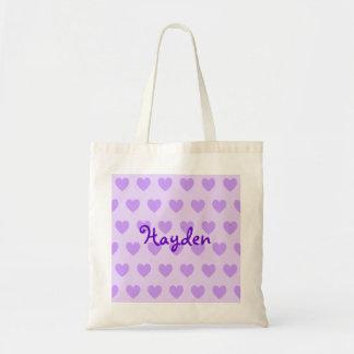 Hayden in Purple Tote Bag