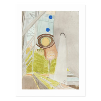 Hayden Planetarium Watercolor Postcard