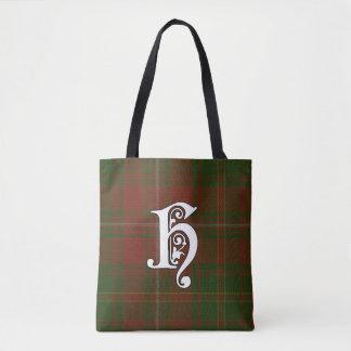 Hayes Clan Tartan Monogram Tote Bag