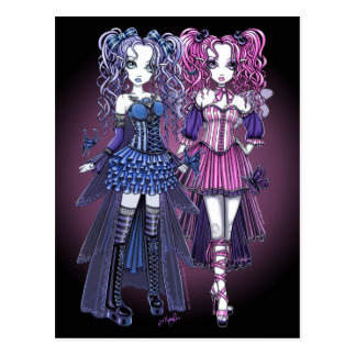 Haylee & Maegan Gothic Fairies Postcard