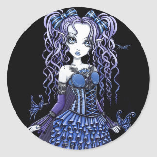 """Haylee"" Purple Tattoo Butterfly Fairy Stickers"