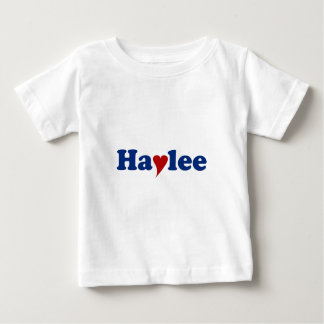 Haylee with Heart Baby T-Shirt