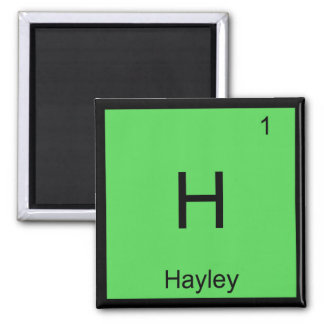 Hayley  Name Chemistry Element Periodic Table Square Magnet