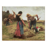 Haymaking, 1880 poster