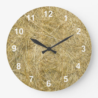 Hayride Large Clock