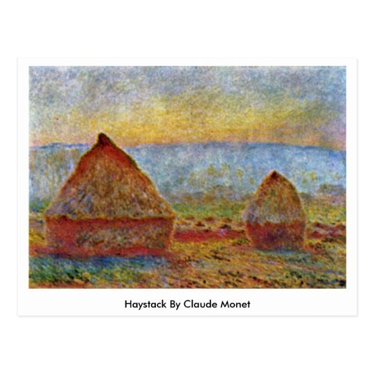 Haystack By Claude Monet Postcard