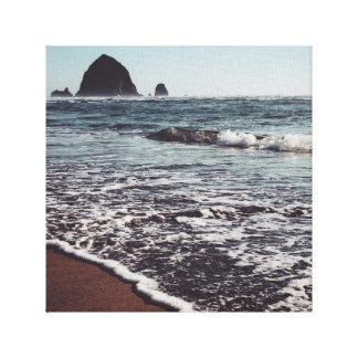 Haystack on the Oregon Coast Canvas Print