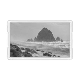 Haystack Rock at Cannon Beach Acrylic Tray