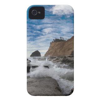 Haystack Rock at Cape Kiwanda Oregon coast USA iPhone 4 Case-Mate Case
