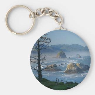 Haystack Rock, Cannon Beach, Oregon Key Ring