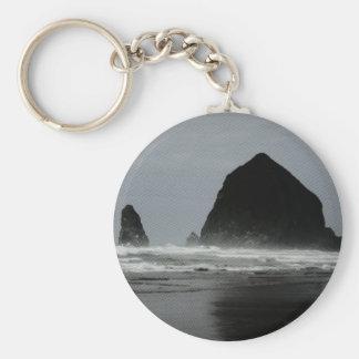 Haystack Rock Key Ring