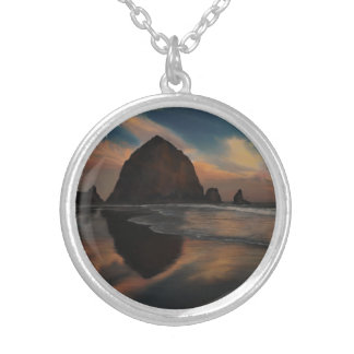 Haystack Rock Painting Personalized Necklace