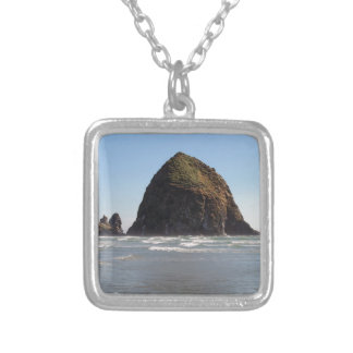 Haystack Rock Silver Plated Necklace