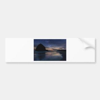 Haystack Rock under Starry Night Sky Bumper Sticker