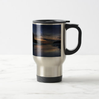Haystack Rock under Starry Night Sky Travel Mug