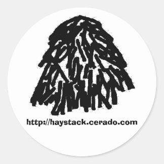 haystack sticker, large classic round sticker