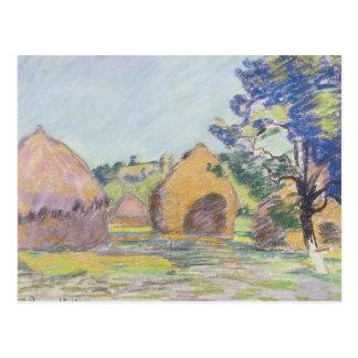 Haystacks at Saint-Cheron Postcard
