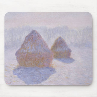 Haystacks Effect of Snow and Sun Mouse Pad