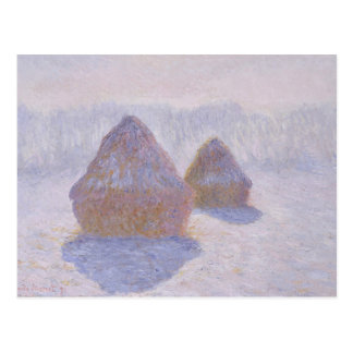 Haystacks Effect of Snow and Sun Postcard