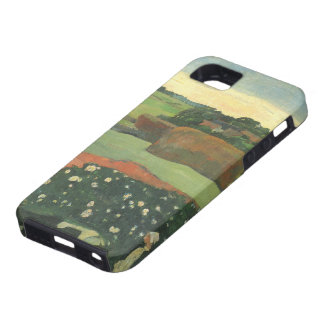 Haystacks in Brittany by Paul Gauguin, Vintage Art iPhone 5 Cover