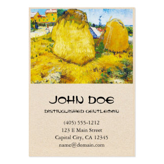 Haystacks in Provence by Vincent Van Gogh Pack Of Chubby Business Cards