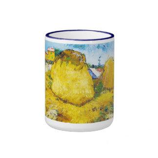 Haystacks in Provence by Vincent Van Gogh Ringer Mug