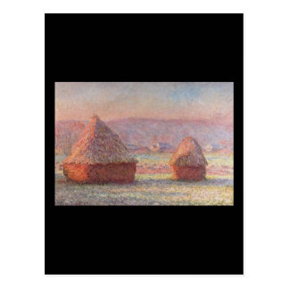 Haystacks- Monet Postcard