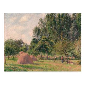 Haystacks, Morning, Eragny Postcard