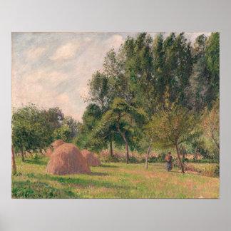 Haystacks, Morning, Eragny Poster