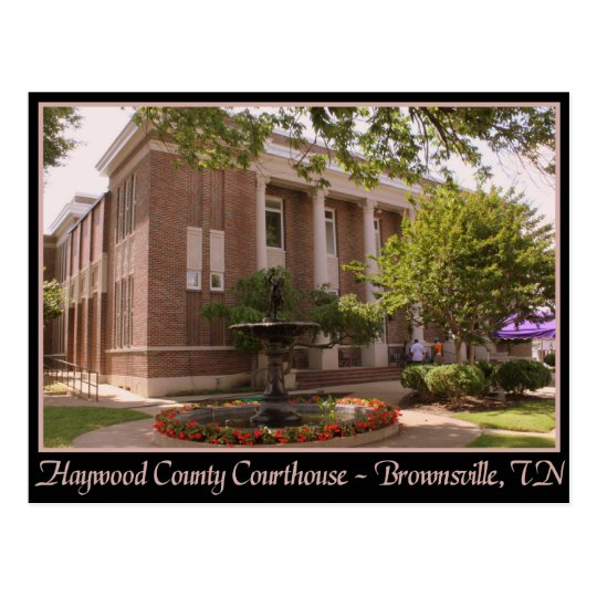 Haywood County Courthouse - Brownsville, TN Postcard